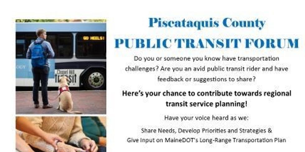 Piscataquis County Public Transit Forum