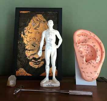 Small acu-model for remote acupuncture; model of ear for acupuncture