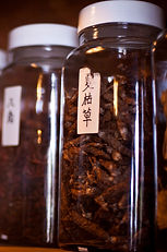 Chinese Herbs in jar