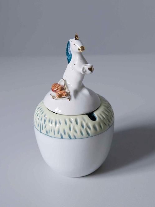 Porcelanowa cukiernica