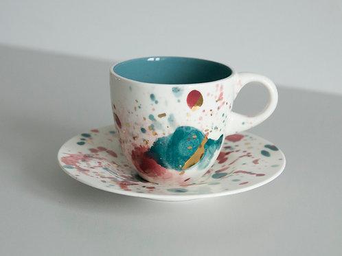 Porcelanowa kosmiczna filiżanka
