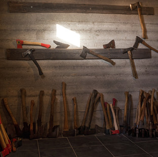 Finnish vintage axes.