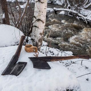 Finnish axes. Hewing axes.