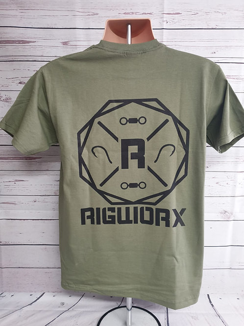 RIGWORX Olive Embroided T Shirt