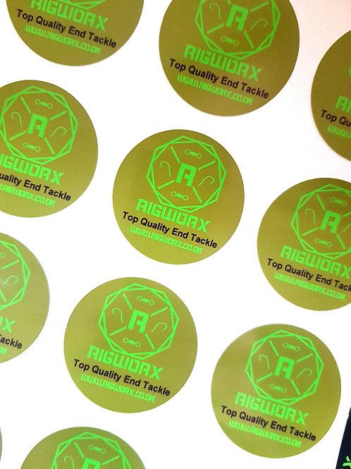 Khaki Rigworx 50mm Sticker