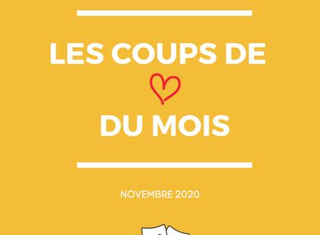Les coups de coeur du mois | Novembre 2020