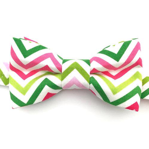 Noeud papillon aux motifs de bandes triangulaires multicolors B