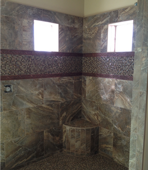Large Format Tiles in Showers....
