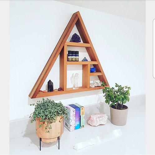 Alice Foley Fae Signature Cedar Wood Triangle Crystal Shelf