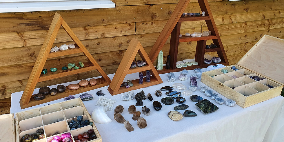 Crystal Stall At The Classic Car Show, Hampton