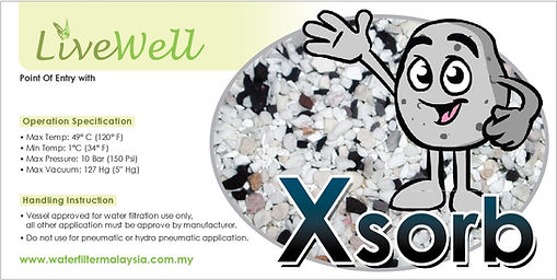 Xsorb filtration sticker