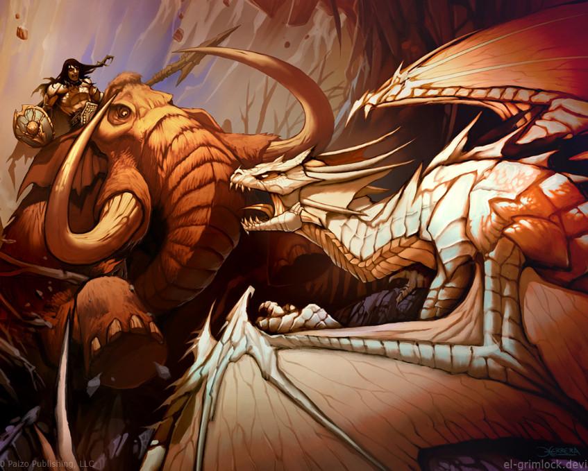 mammoth_vs_dragon_by_el_grimlock-d30efb51