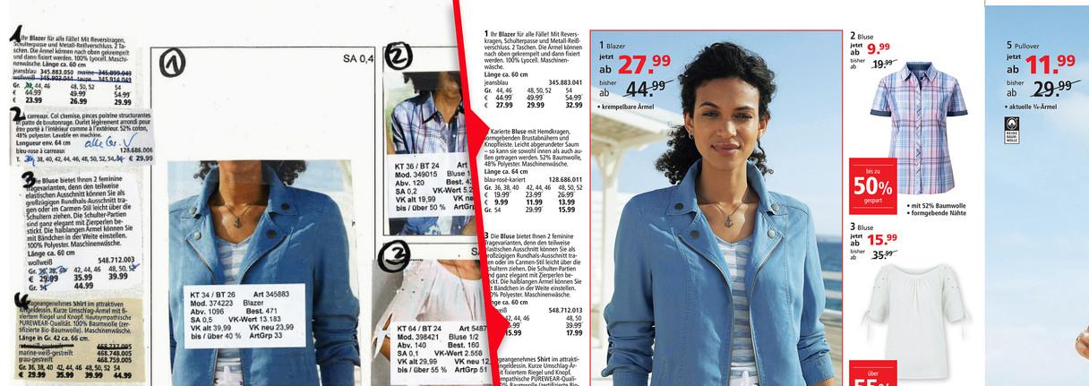 Layout - Clothing Catalog