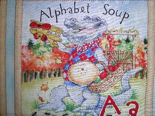 Alphabet Soup childresn'ssoft story book fabric