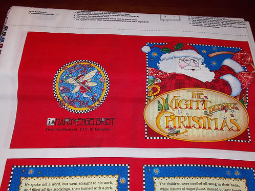 Night Before Christmas story book fabric