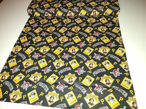 """Pittsburg Pirates cotton fabric. Approximately 44"""" wide"""