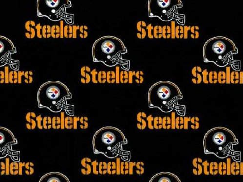 NFL Pittsburgh Steelers black cotton fabric