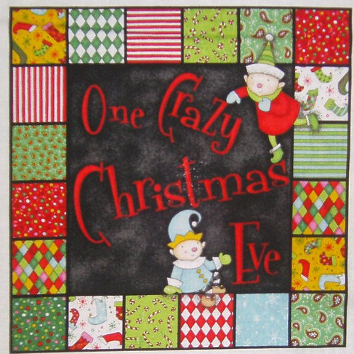 One Crazy Christmas Eve children's story book fabric