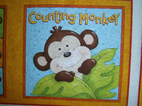 Countying Monkey children's soft story book fabric
