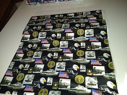 U S Army cotton fabric. Beautiful colors.