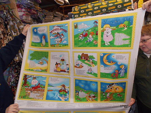 EXCLUSIVE Mother Goose Volume 1 book fabric.