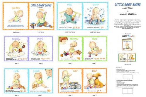 Elizabeth Studios Baby Sign fabric book panel