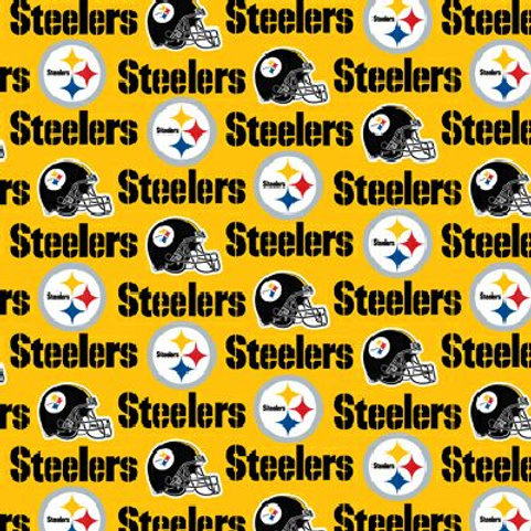 Pittsburgh Steelers yellow cotton fabric