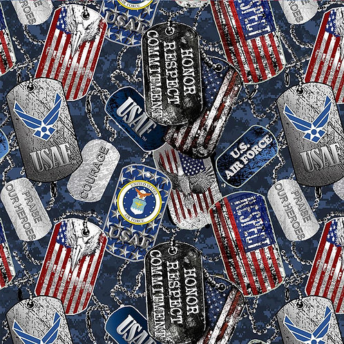 U S Air Force military cotton fabric. Sold per yard