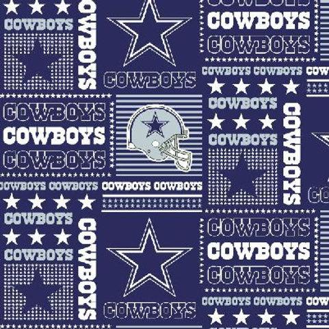 Dallas Cowboys cotton fabric blue 1/2 yard