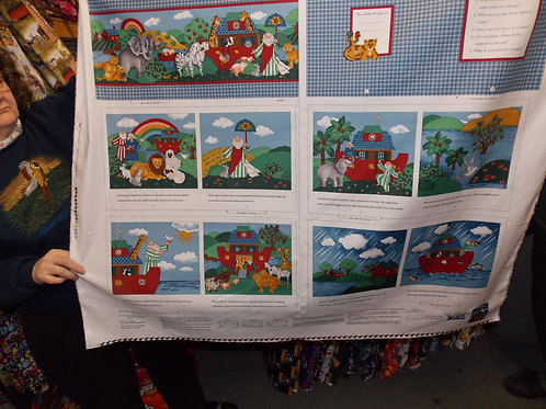 EXCLUSIVE Noah's Ark story book fabric