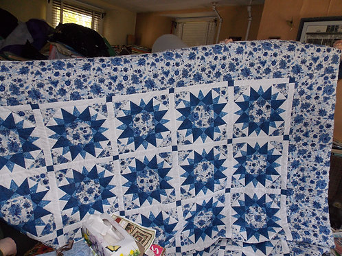 Blue Vagabond queen size quilt