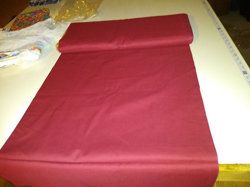 Broadcloth, Half yard. 100% cotton. Wine color
