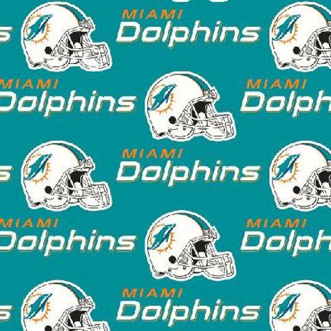 Miami Dolphins cotton fabric