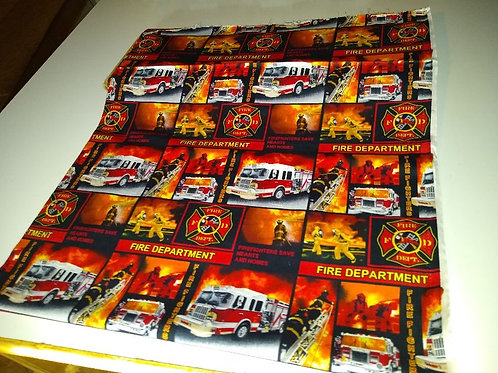 Fire Fighter Department cotton fabric. Brilliant colors