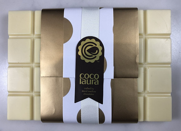 Chocolate Blocks 200gm - Belgian White Chocolate with Passionfruit Pectin