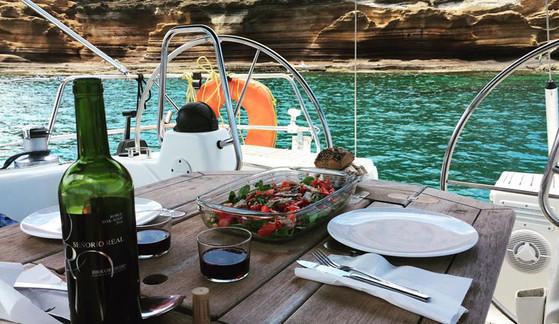 Comida en el barco
