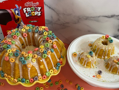 Froot Loop Bundt Cake for National Bundt Day!