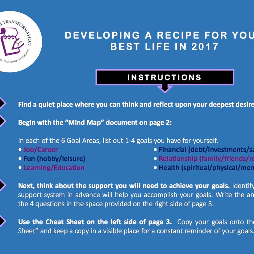 RecipeForLife_MindMapGoalDevelopmentWorksheet_page 1