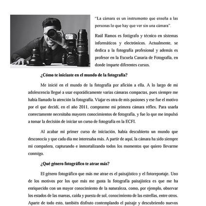 Entrevista Escuela Canaria de Fotografía