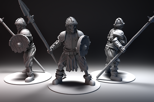 Skeletal Warrior 8 - Spear and Shield Standing