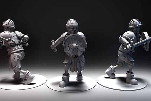 Skeletal Warrior 5 - Sword and Shield Marching