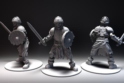 Skeletal Warrior 4 - Sword and Shield Standing