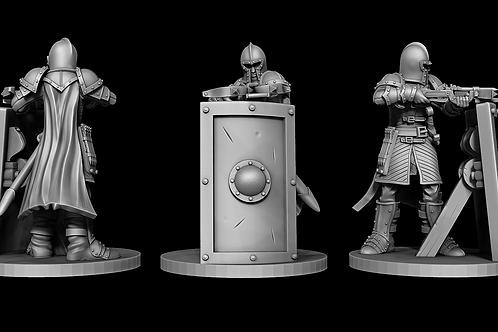 Town Guard - Crossbowman Behind Shield STL file