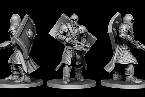 Town Guard - Marching Crossbowman STL file