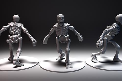 Graveyard Skeleton - Roaring STL file