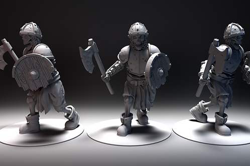 Skeletal Warrior - Axe and Shield STL file