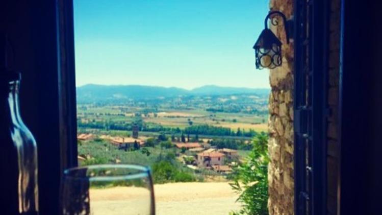 Landscape's overview from Locanda Castellina's terrace