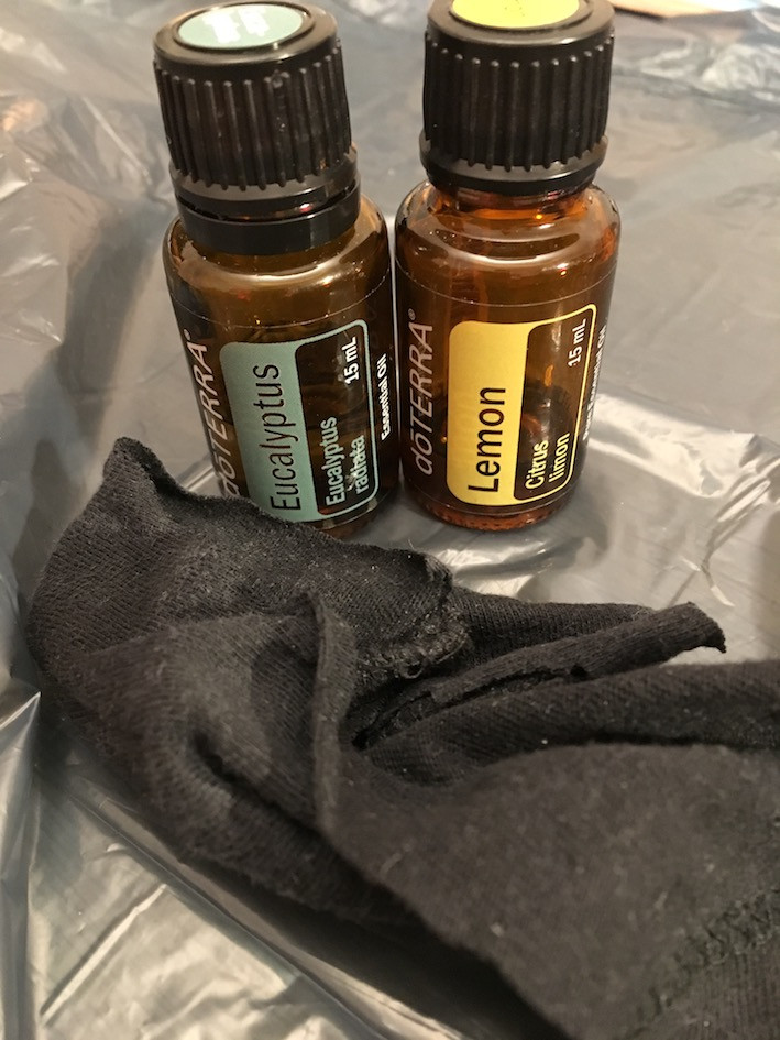 2 flasker æteriske olier (eukalyptus og lemon)