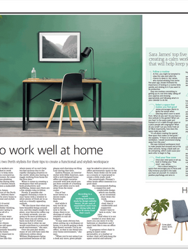 Featured in The West Australian - COVID-19 & working well from home