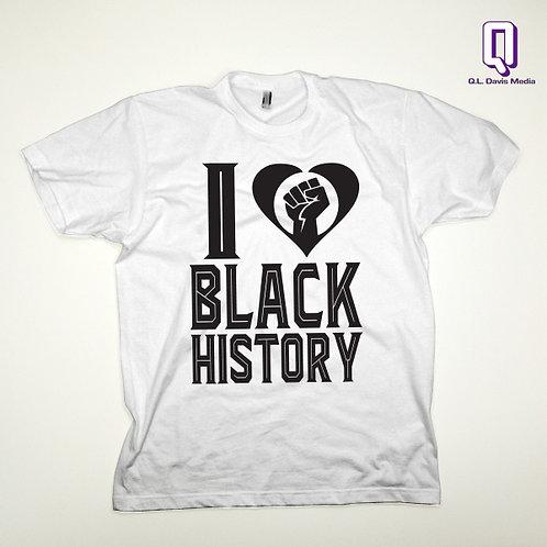 I Love Black History Month Black on White